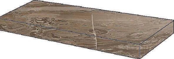 S.M. Woodstone Taupe Scalino Angolare Dx 33x60