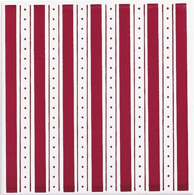 Brennero Colonial Righe Bordeaux 20х20