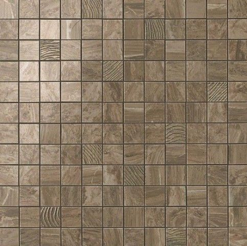 S.M. Woodstone Taupe Mosaic 30.5x30.5